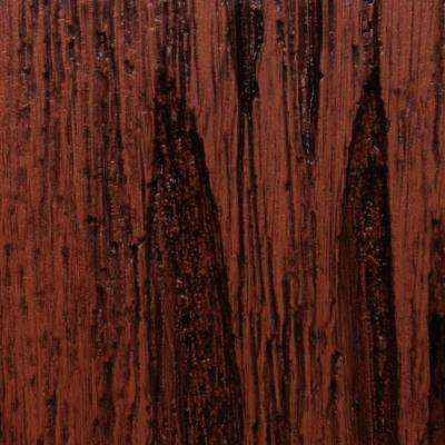 3 in. x 6 in. Garage Door Composite Material Sample in Pecky Cypress Species with Walnut Finish