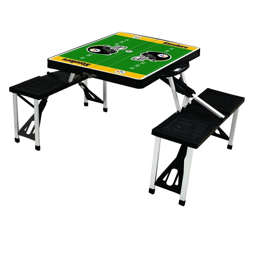 Picnic Time Pittsburgh Steelers Sport Plastic Outdoor Patio Picnic Table