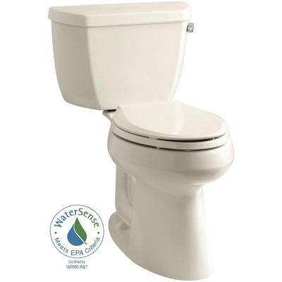 Highline 2-piece 1.28 GPF Single Flush Elongated Toilet in Almond, Seat Not Included