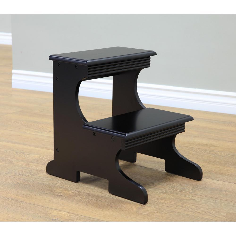 Home Craft Black Step Stool