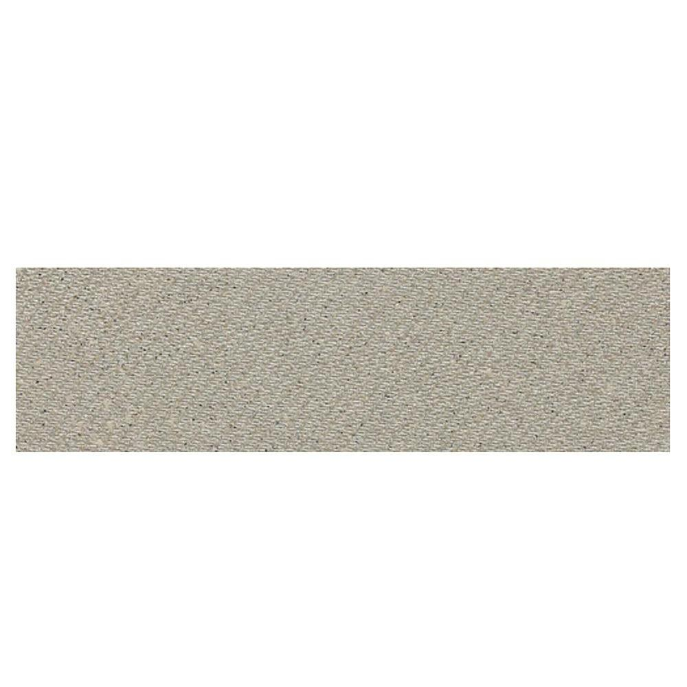 Daltile Identity Cashmere Gray Fabric 4 in. x 12 in. Polished Bullnose Floor and Wall Tile-DISCONTINUED