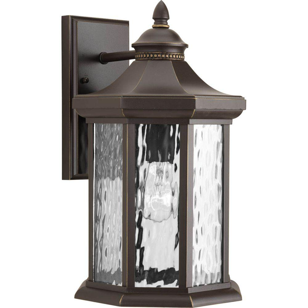 Edition Collection 1-Light Outdoor 9 Inch Antique Bronze Wall Lantern