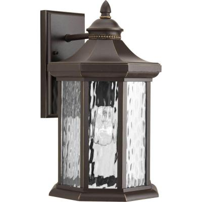 Edition Collection 1-Light Antique Bronze 15.9 in. Outdoor Wall Lantern Sconce