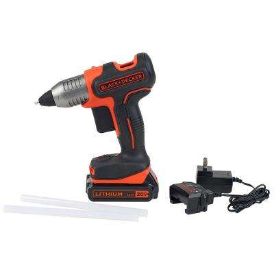 20-Volt MAX Cordless Full Size Glue Gun Kit with Battery, Charger and 2 Glue Sticks