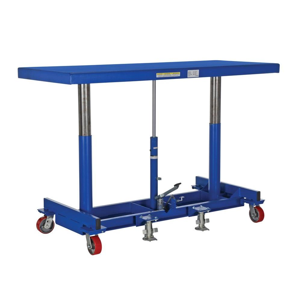 Vestil 72 in. x 30 in. 2,000 lb. Ergonomic Long Deck Cart