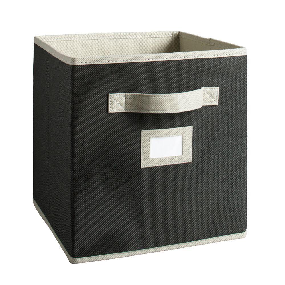 Martha Stewart Living 10-1/2 in. x 11 in. Black Fabric Drawer