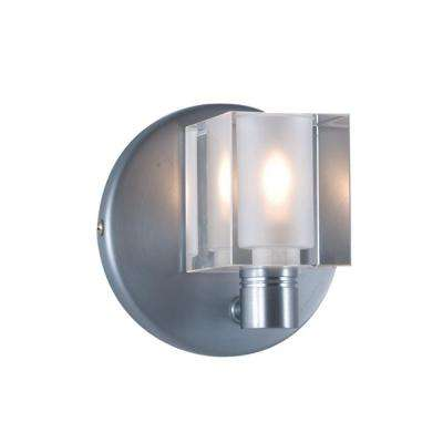 1-Light Low-Voltage Crystal Companion Wall Sconce with Cube