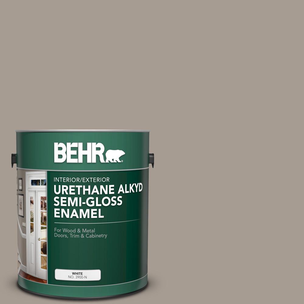 Pleasant Behr 1 Gal N200 4 Rustic Taupe Urethane Alkyd Semi Gloss Enamel Interior Exterior Paint Download Free Architecture Designs Ferenbritishbridgeorg