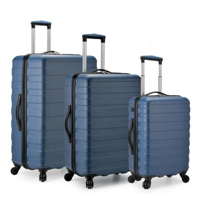 Bondi 3-Piece Navy Spinner Luggage with Smart USB Port