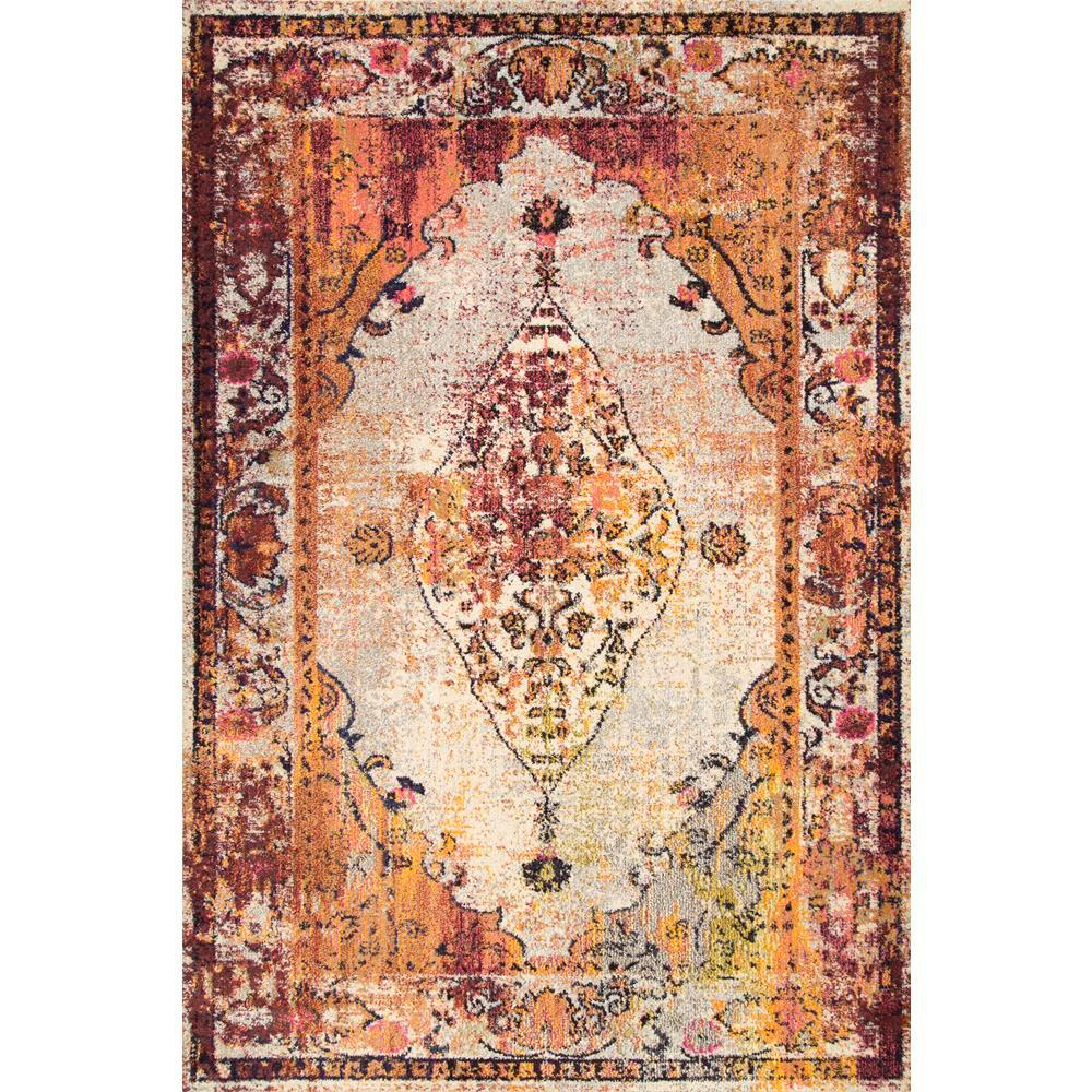 NuLOOM Vintage Medallion Veronica Red 7 Ft. 10 In. X 11 Ft