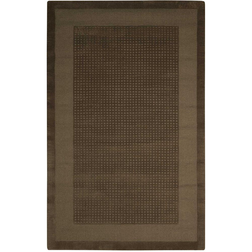 Nourison Simply Elegant Mocha 4 Ft X 6 Ft Solid Contemporary Area Rug 723031 The Home Depot