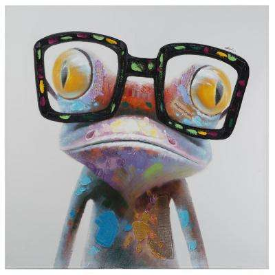 48 in. x 48 in. Hipster Froggy I