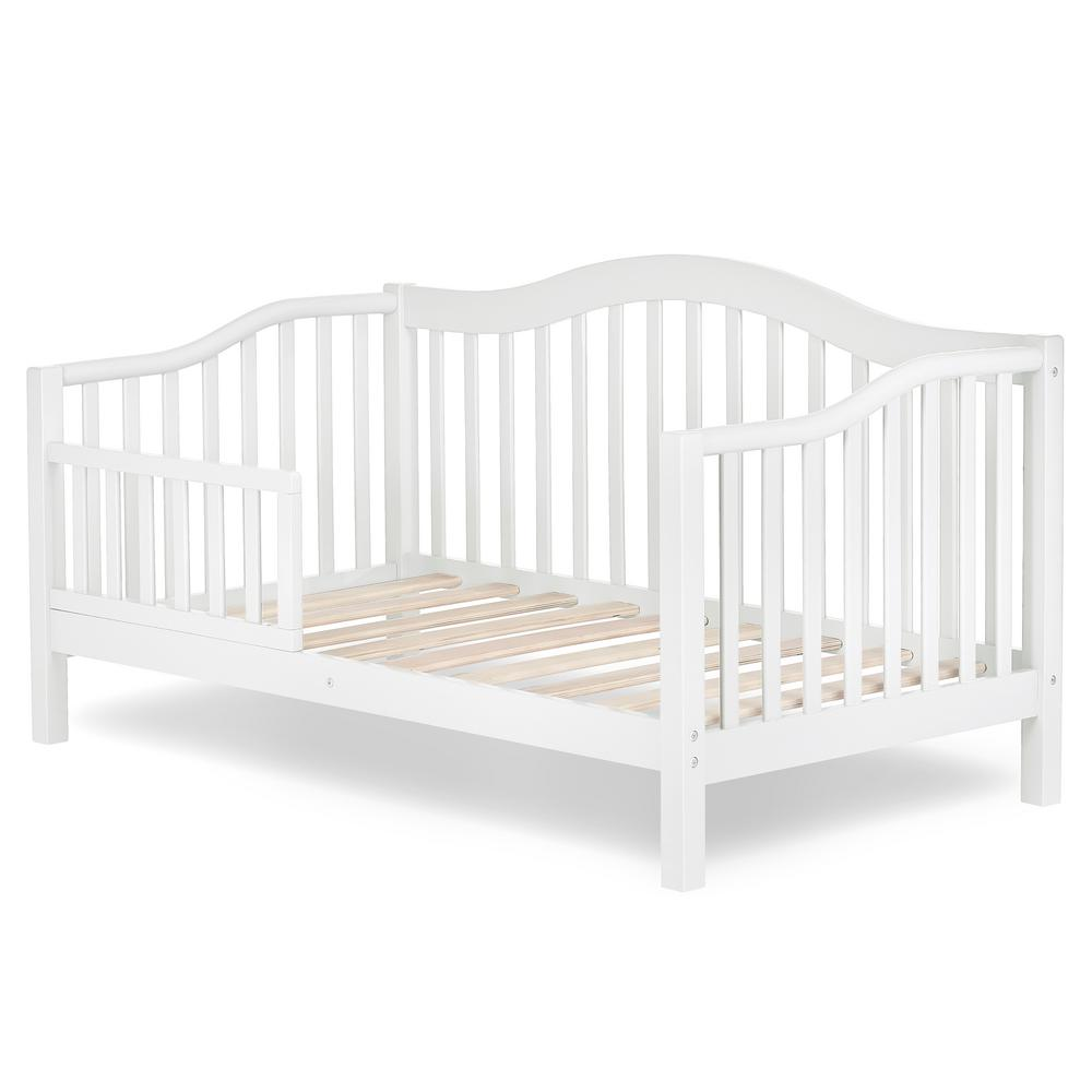 Miraculous Dream On Me Austin White Toddler Adjustable Day Bed 650 Wht Bralicious Painted Fabric Chair Ideas Braliciousco