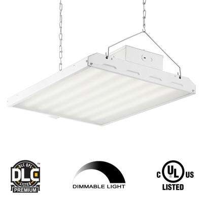 135-Watt 2 ft. White Integrated LED High Bay Hanging Light with 17,420 Lumens 5000K and Microwave Occupancy Sensor