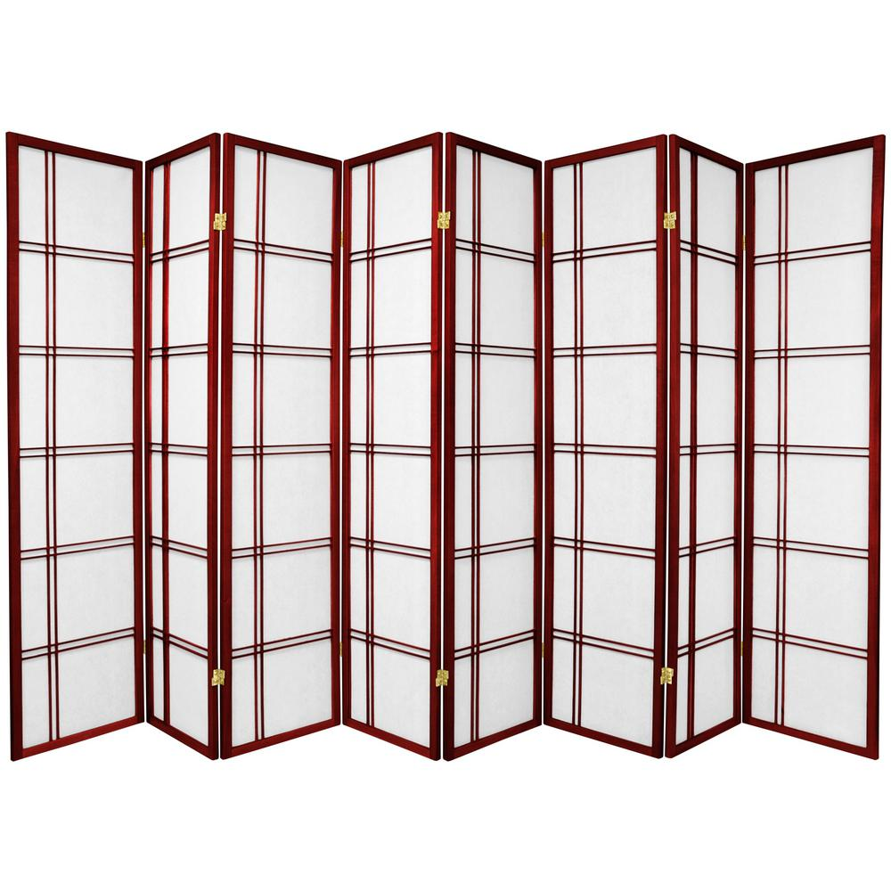 6 ft Rosewood 8 Panel Room Divider SSCDBLX 8P RWD The Home Depot