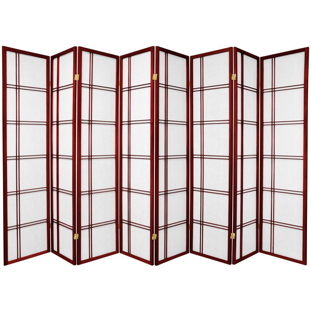 6 ft. Rosewood 8-Panel Room Divider