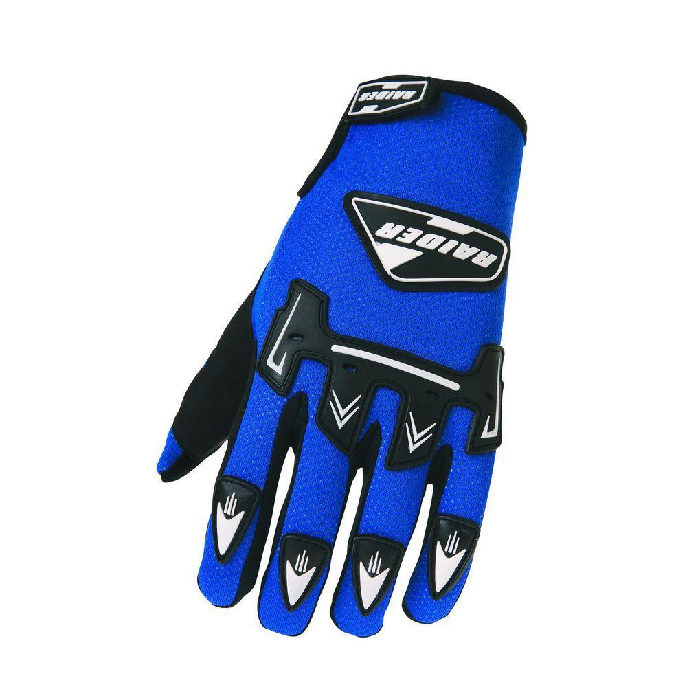 Raider Youth MX Medium Glove in Blue