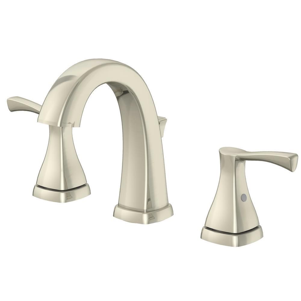 Jaci 8 in. Widespread 2-Handle Bathroom Faucet in Brushed Nickel