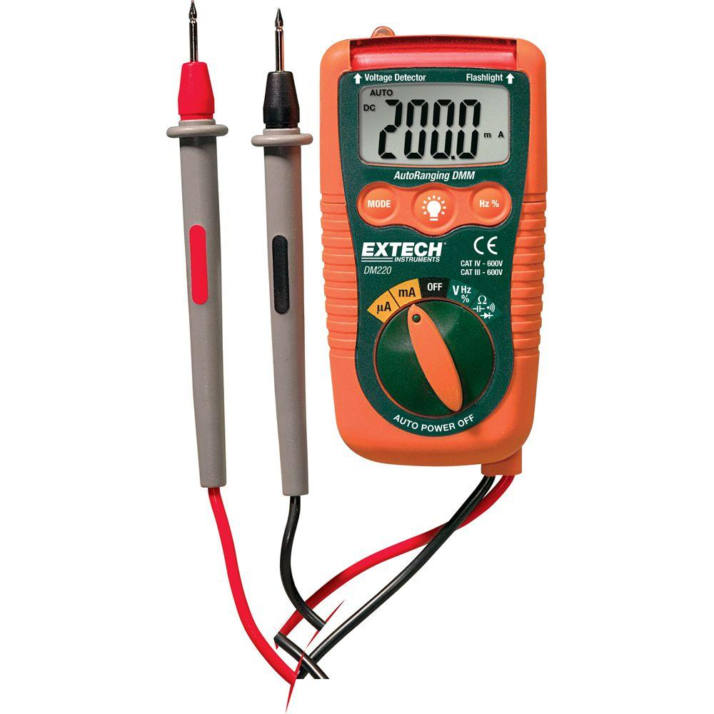 Mini Pocket Multimeter with Non-Contact-Voltage Detector