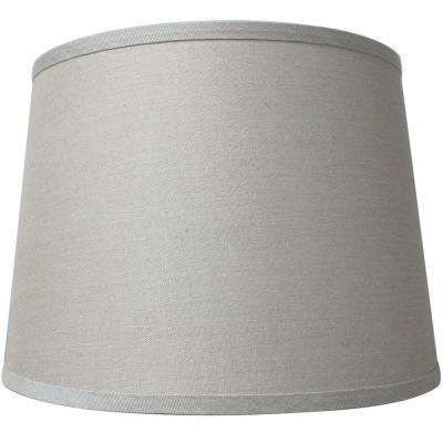 Mix match taupe drum table shade