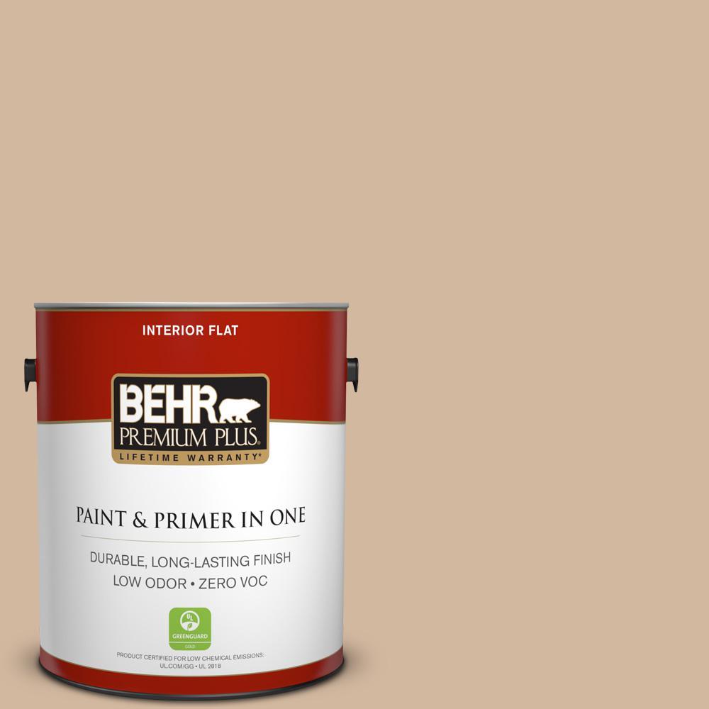 BEHR Premium Plus 1-gal. #S280-3 Practical Tan Flat Interior Paint