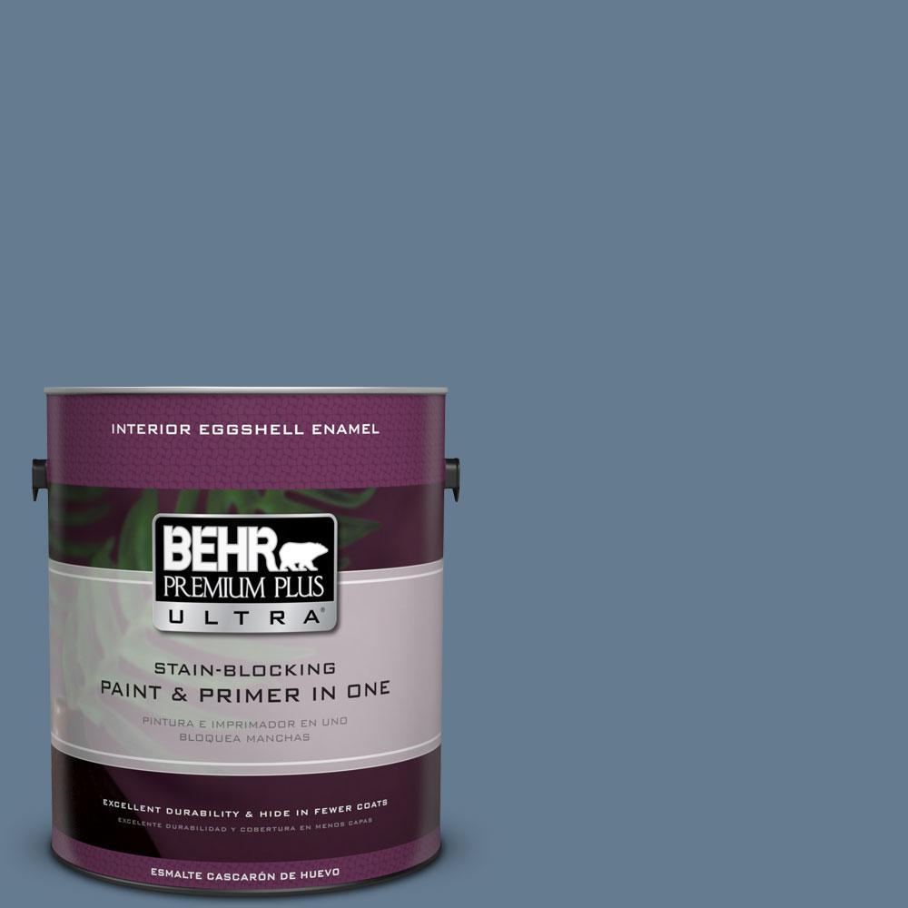BEHR Premium Plus Ultra 1-gal. #S510-5 Skinny Jeans Eggshell Enamel Interior Paint