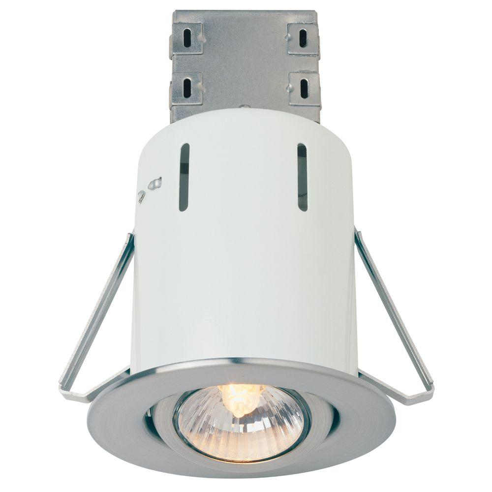 Commercial Electric 3 in. Brushed Nickel Recessed Lighting Retrofit Kit