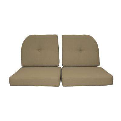 Sunbrella Sand 4-Piece Outdoor Loveseat Cushion Set