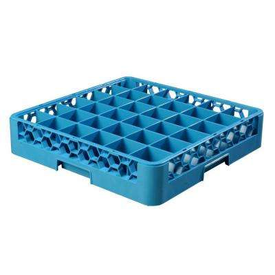 19.75x19.75 in. 36-Compartment Glass Rack (for Glass 2.69 in. Diameter, 3.19 in. H) in Blue (Case of 6)