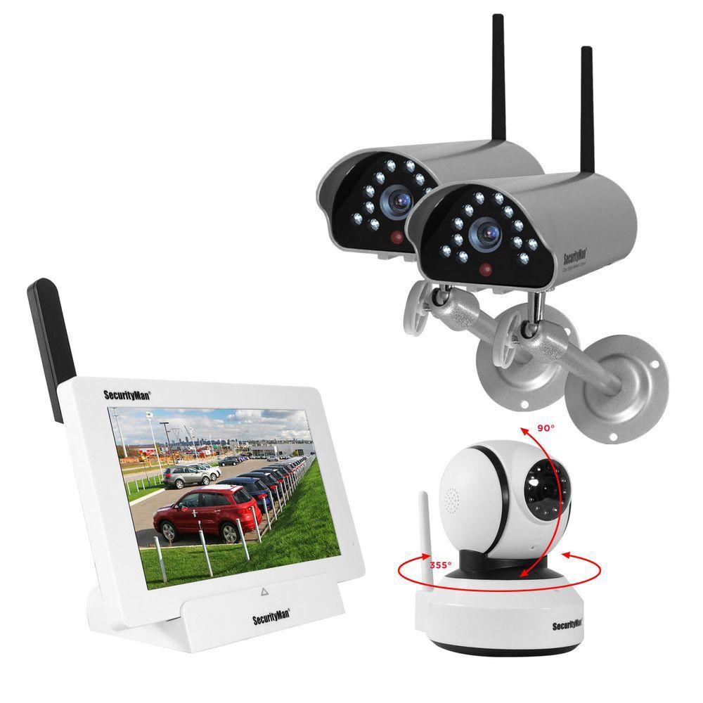 SecurityMan iSecurity 4-Channal 480TVL Digital Wireless Indoor ...