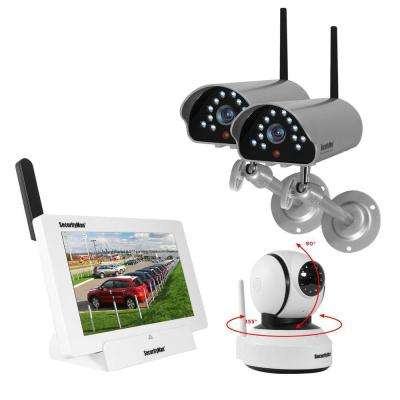 iSecurity 4-Channal 480TVL Digital Wireless Indoor/Outdoor 1 Camera System Kit with Remote Viewing