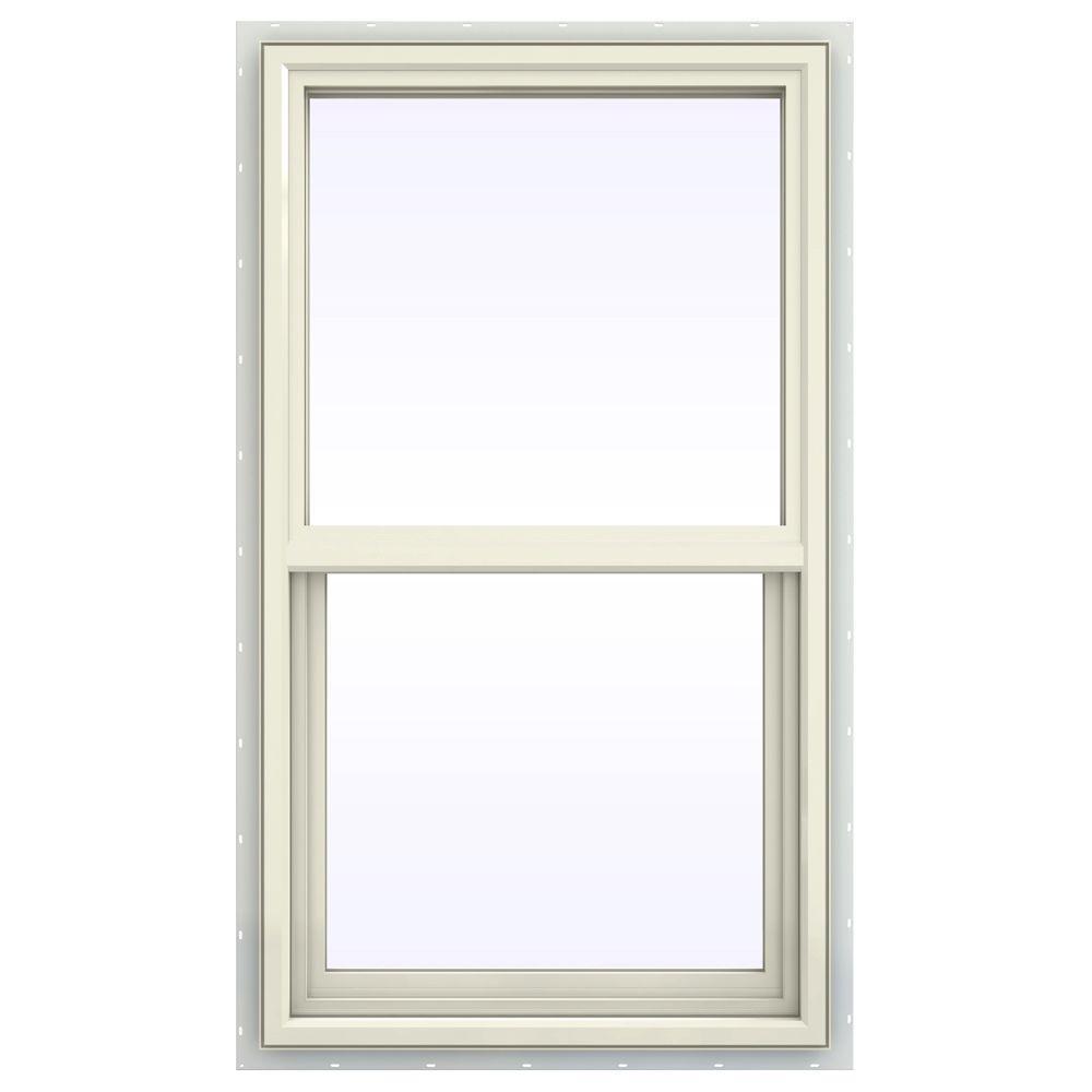 JELD-WEN 23.5 in. x 47.5 in. V-4500 Series Single Hung Vinyl Window - Yellow