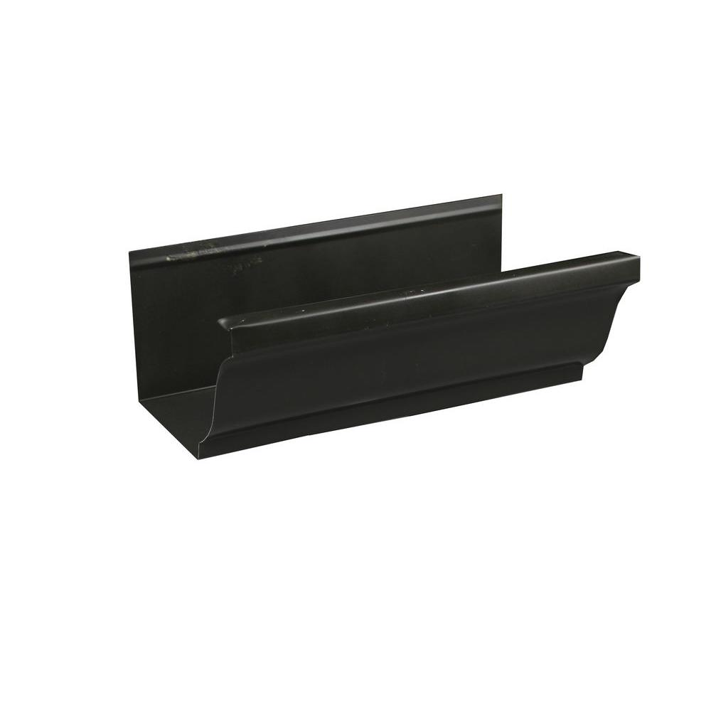 5 in. x 8 ft. K-Style Bronze Aluminum Gutter