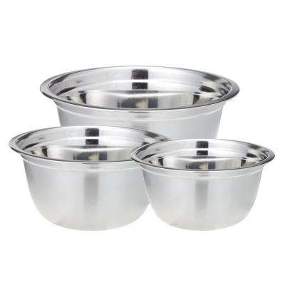 3-Piece Professional Satin Finish Stainless Steel Mixing Bowls Set