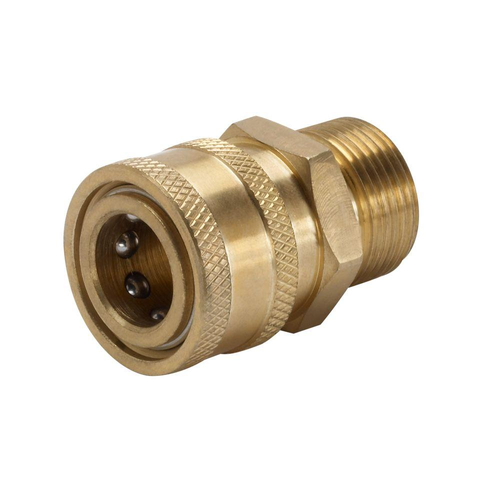 Power Care 3/8 in. Female Quick Connect x Male M22 Connector for