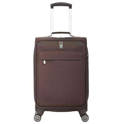20 in. Brown Carry-On Spinner Suitcase