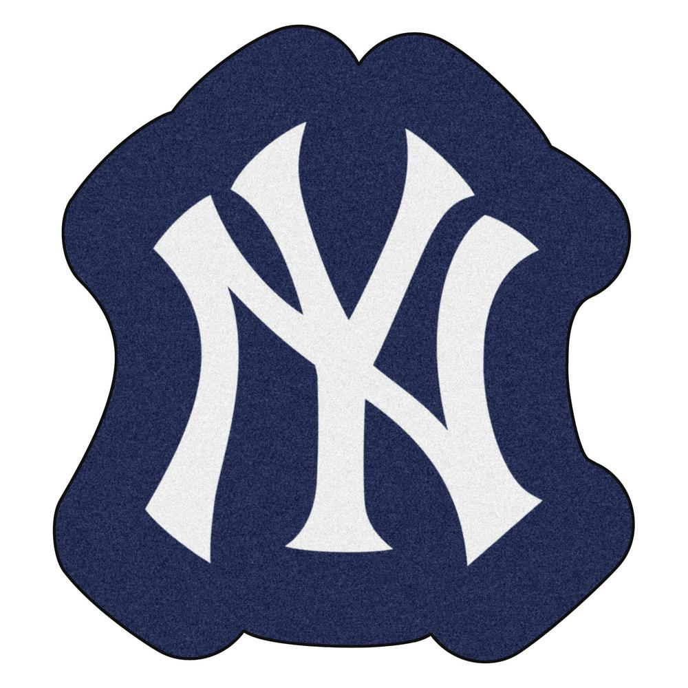 Fanmats Mlb New York Yankees 30 In X 32 9 Indoor Area Rug Mascot Mat