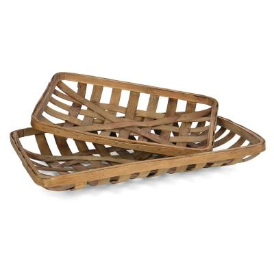 Decorative Tobacco Baskets - (Set of 2)