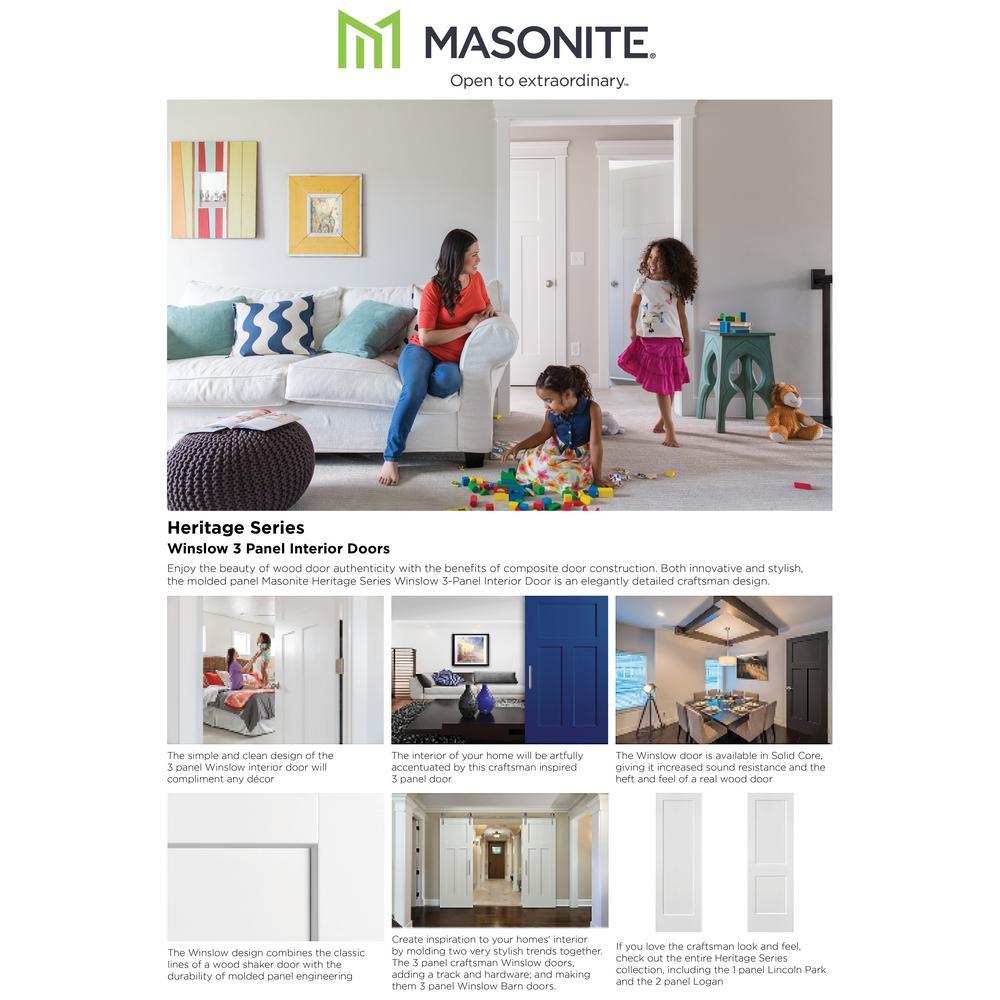 Masonite 24 In X 80 In Winslow 4 Panel Primed White Hollow Core Composite Bi Fold Interior Door