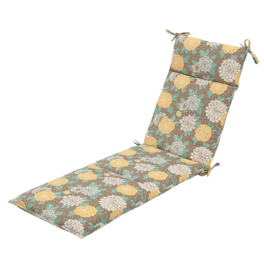 Hampton Bay Petula Outdoor Chaise Lounge Cushion