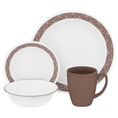 Classic 16-Piece Sand Sketch Dinnerware Set