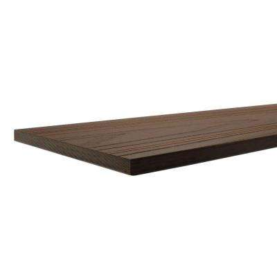 UltraShield 0.6 in. x 7 in. x 16 ft. Spanish Walnut Fascia Composite Decking Board