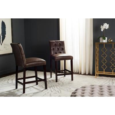 Norah 27.5 in. Counter Stool in Brown (Set of 2)
