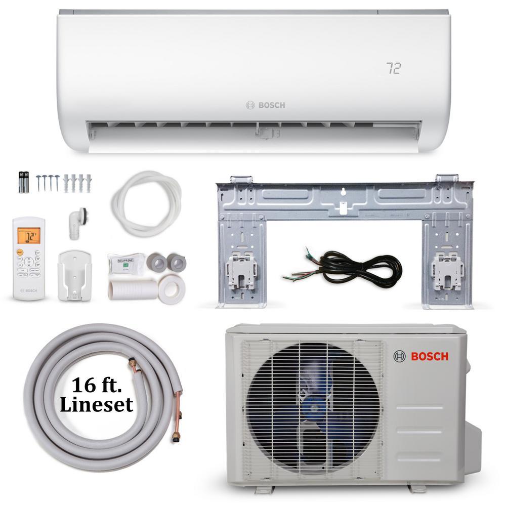 Climate 5000 Energy Star 9,000 BTU 0.75 Ton Ductless Mini Split Air Conditioner and Heat Pump - 115-Volt/60 Hz