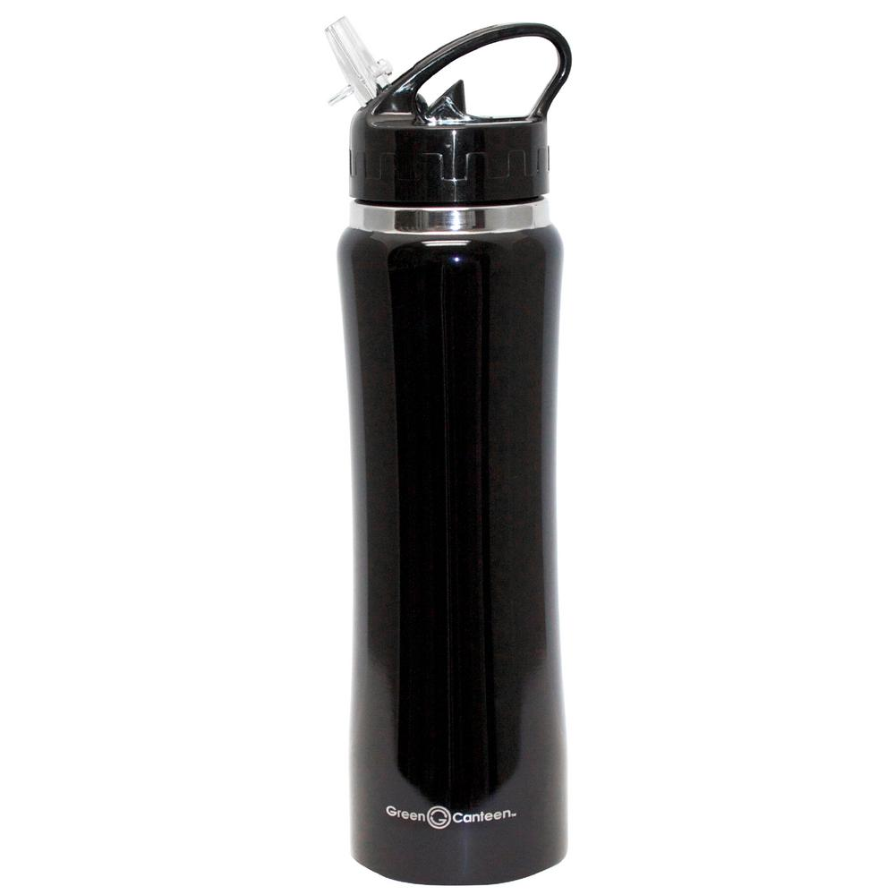 25 oz. Black Stainless Steel Double Wall Thermal Vacuum Bottle (6-Pack)