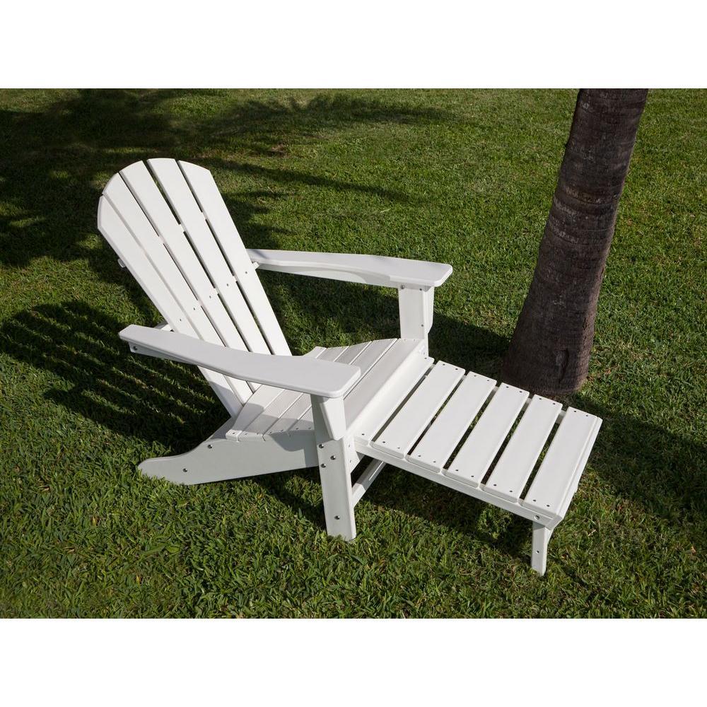 South Beach Ultimate White Patio Adirondack Chair