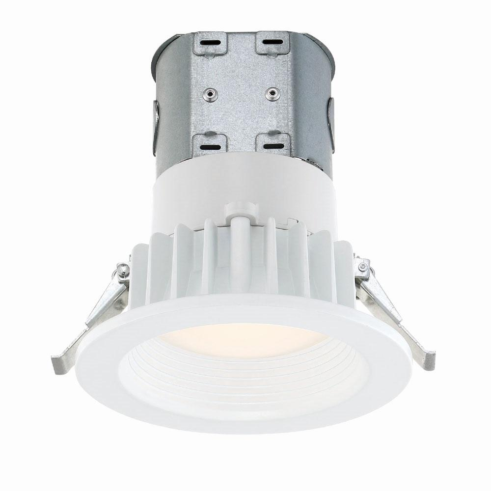 no wire lighting. Commercial Electric Easy Up With Direct Wire J-Box 4 In. White Integrated LED No Lighting F