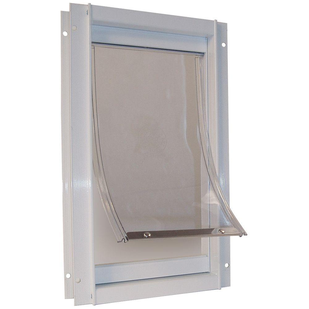 Ideal Pet 7 in. x 5 in. Small Deluxe Aluminum Frame Pet Door-DISCONTINUED