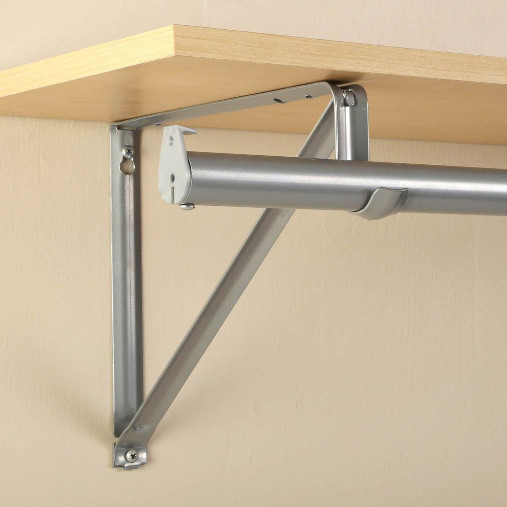 Closet Pro 10 3 4 In Platinum Shelf And Rod Bracket Rp 0045 Pm The Home Depot