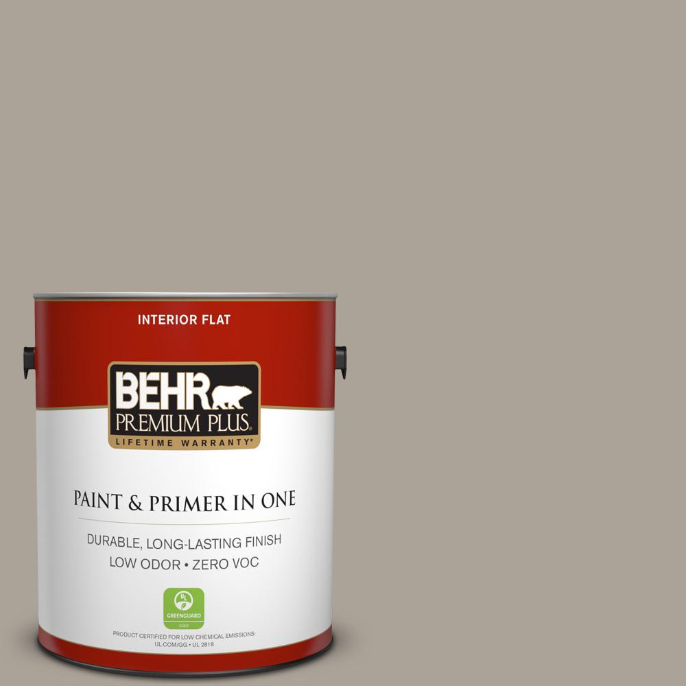 BEHR Premium Plus 1-gal. #ECC-18-1 Quail Ridge Zero VOC Flat Interior Paint